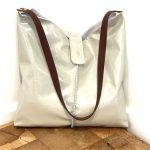 Minimalist Italian Leather Shiny Medium Size – Elegant and Handmade Bag – Andrea Bag