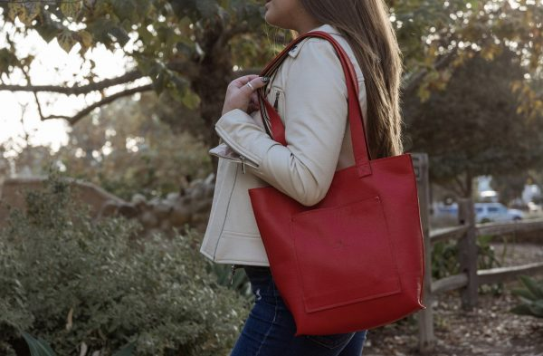 Red Leather medium size bag