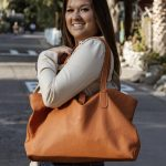 Large Travel Bag Tote – Handmade Leather Bag – Handcrafted Carry all Shopping Bag – Carolina Tote