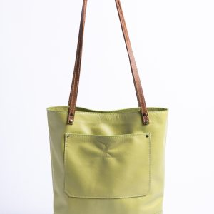 """Laura"" Tote Bag – Leather Medium Purse – Handmade Tote Bag – Brown Tote"