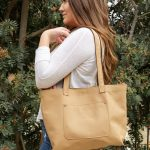 Medium Size Tote – Leather Tote Bag – Comfortable Shoulder Purse – 100% Genuine Leather