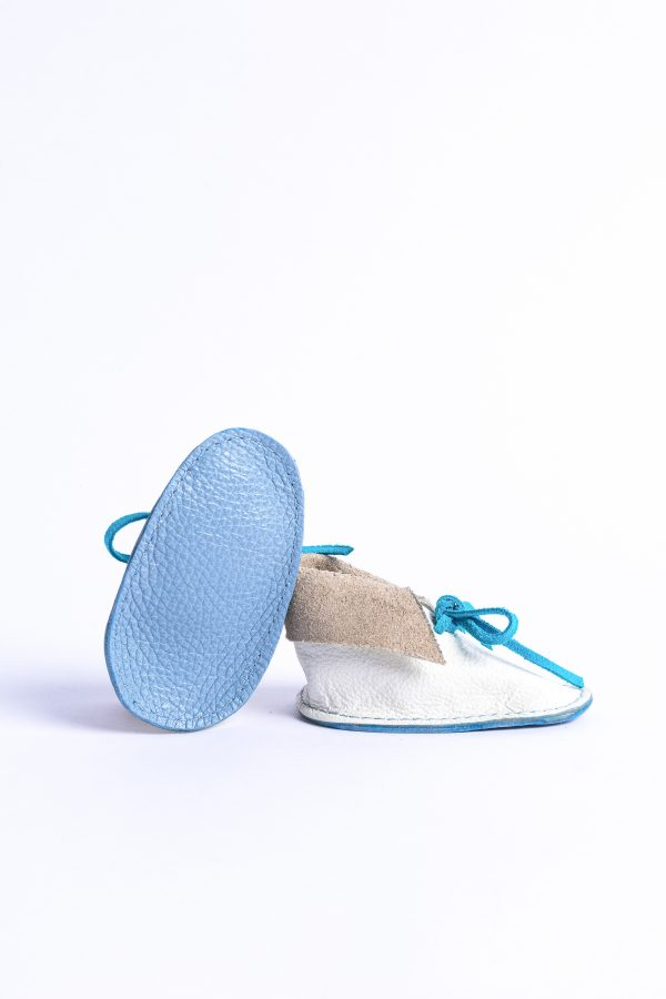 Sole view of baby shoes