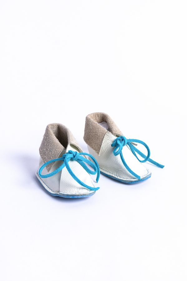 Front view baby boys shoes