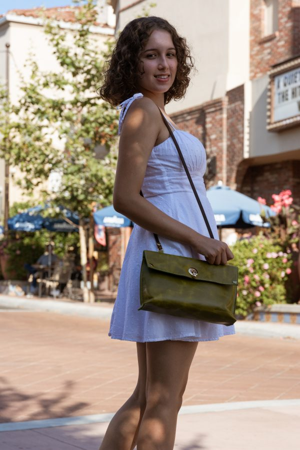 Green Jacquie Leather Purse