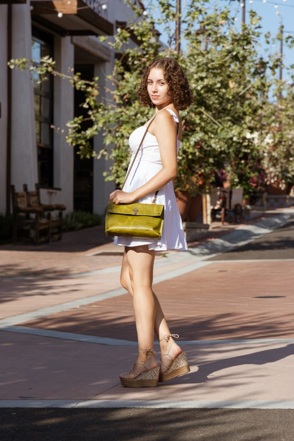 Green Moss Jacquie Leather Purse