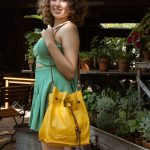Nathalie Bucket Leather Bag – Medium to Large Size Bag – Handcrafted Bucket Style Purse – High Quality Leather